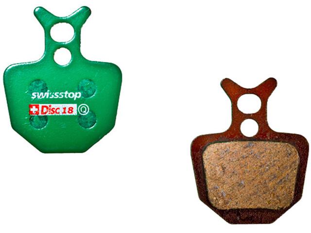SwissStop Disc 18 Organic Brake Pads Formula ORO, green